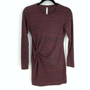 Fabletics Heather Ruched Long Sleeve Shirt Dress